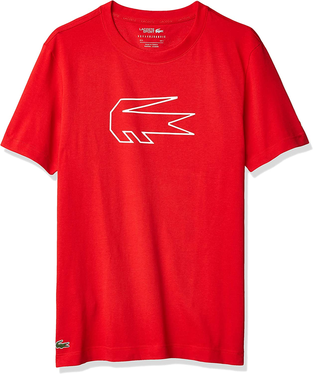 Lacoste Men S Sport Novak Djokovic Big Croc Technical Jersey Tee At Amazon Men S Clothing Store