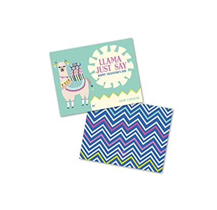 Amazon Com Llama Just Say Personalized Valentine S Day Cards