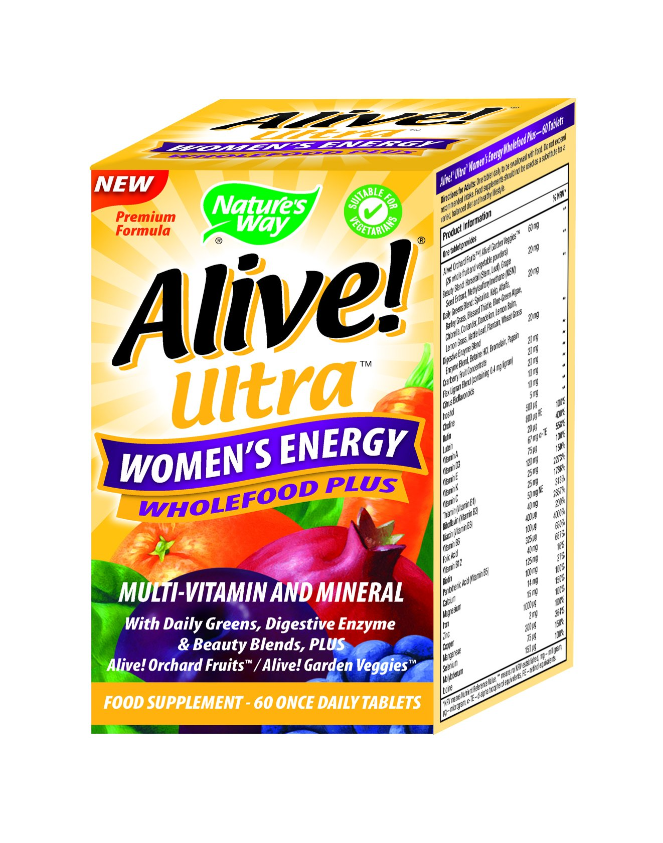 Alive Ultra Women S Energy Wholefood Plus Multivitamins 60 Tablets Buy Online In Jordan Alive Products In Jordan See Prices Reviews And Free Delivery Over Jd 60 00 Desertcart