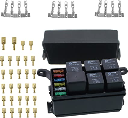 Amazon.com: Iztoss 12-Slot Relay Box 6 Relays 6 Blade Fuses - Fuse ... fuse relay box wiring diagram Amazon.com