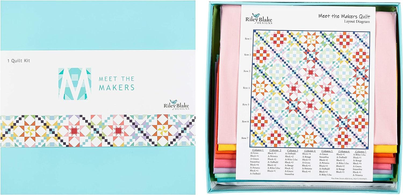 Riley Blake Designs Meet The Makers - Juego de Colcha: Amazon ...