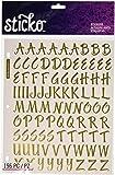 Sticko 1-Inch Susy Ratto Brush Letter Stickers, Golden Foil