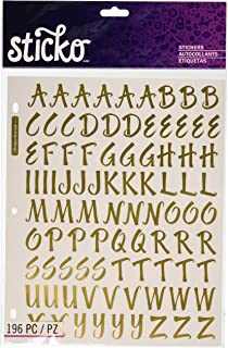 sticko 1 inch susy ratto brush letter stickers golden foil