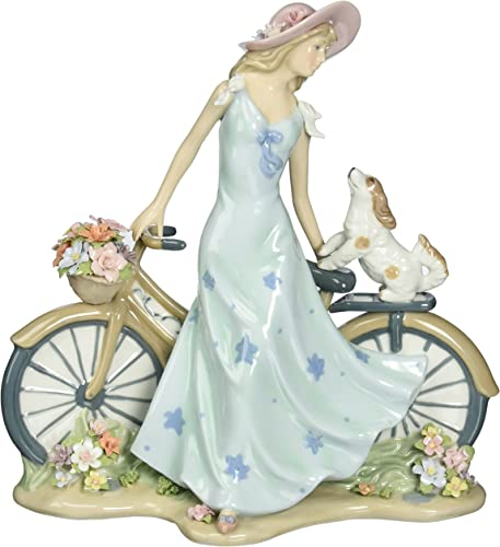 Cosmos 10414 Riding Bike with My Best Friend Ceramic Figurine, 10-5 8-Inch