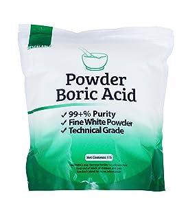 25 lb Fine Powder Boric Acid H3BO3 99.9+% Pure Orthoboric Acid