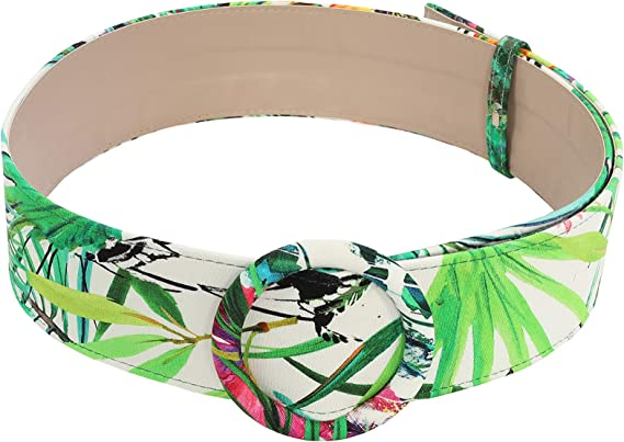 Fashion Belts for Women Combed Cotton Wide High Waist Cinch Belts for Dresses