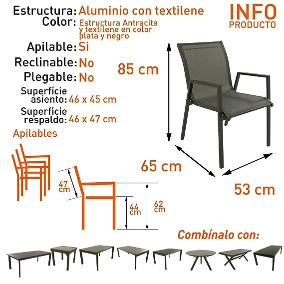Edenjardi Reposapies Exterior Aluminio y textilene - Portes Gratis: Amazon.es: Jardín