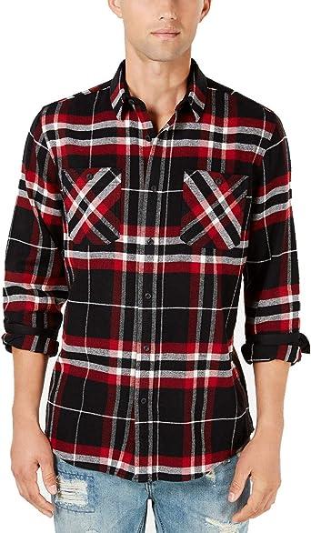 American Rag Mens Plaid Button Up Shirt