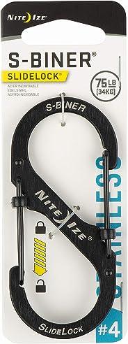 Nite Ize LSB4-11-R3 S-Biner Slide Lock Carabiner, Black, #4