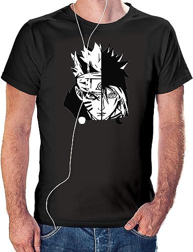 Camisaurio Camiseta de Naruto Blanco y Negro- Naruto Uzumaki Color Negro (XL): Amazon.es: Ropa y accesorios