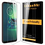 [4 Pack] UniqueMe Compatible Screen Protector for Motorola Moto G8 Plus Tempered Glass,[Alignment Frame Easy Installation] 9H