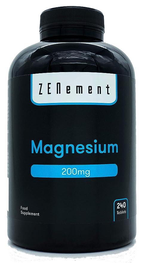 Magnesio 200 mg, 240 Comprimidos | Ayuda a los sistemas psíquico, nervioso, muscular