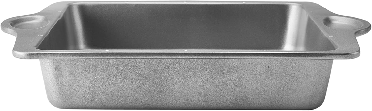 9-Inch Bakers Advantage Nonstick Square Pan with Measurement Marks