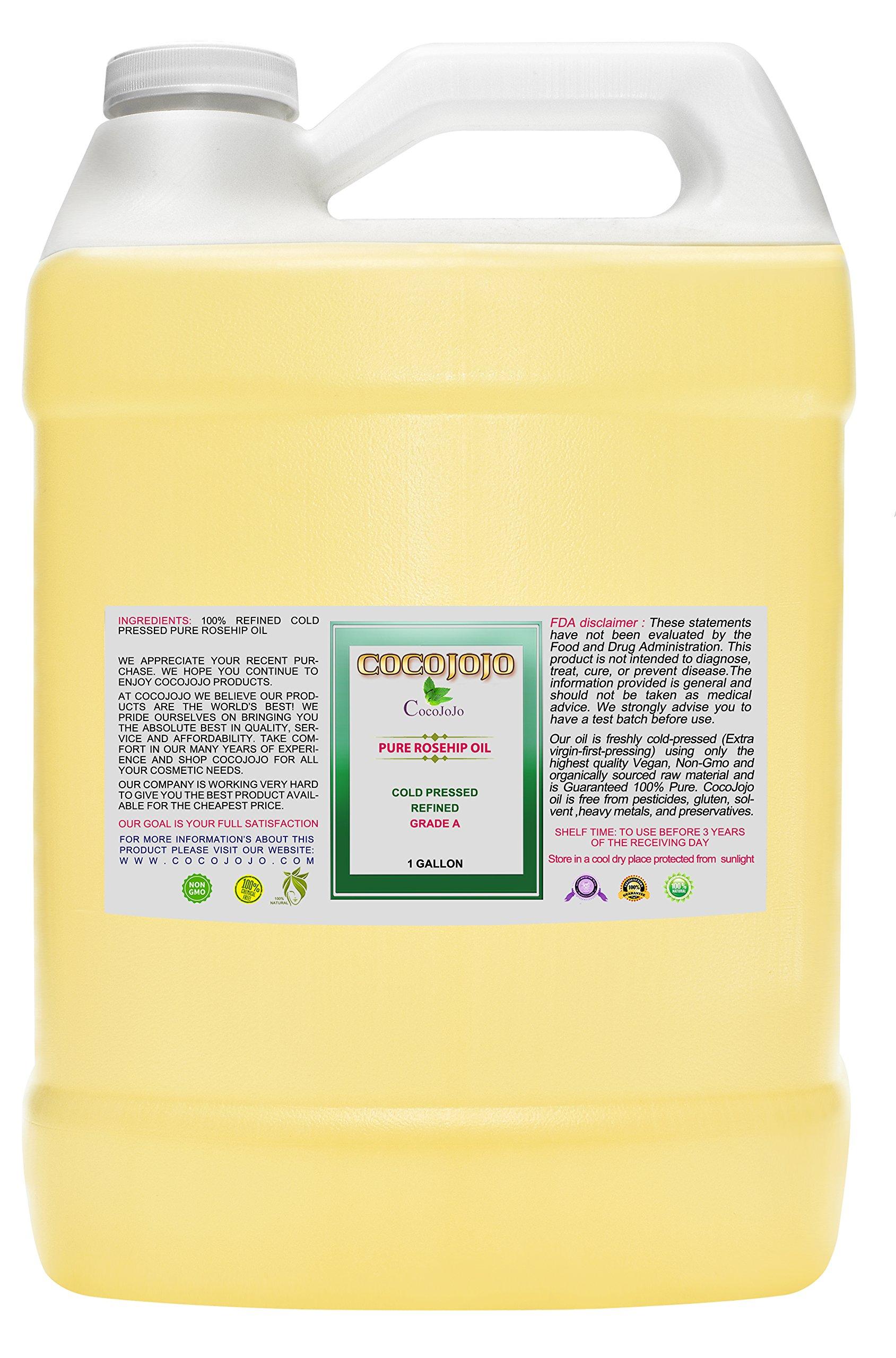 Rosehip Oil - 100% Pure Natural Seed Oil Cold Pressed 1 GALLON Face Skin Refined Premium Grade