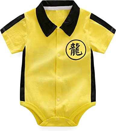 Baby Fashion Clothing Girls Boys Kung Fu Jumpsuit Cute Romper Bruce Lee Clothes