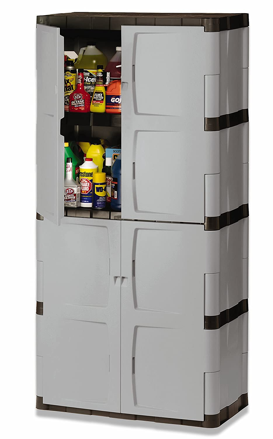 Beau Amazon.com: Rubbermaid 72 Inch Four Shelf Double Door Resin Storage Cabinet  (FG708300MICHR): Home U0026 Kitchen