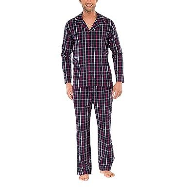 c503b18f70 Schiesser Herren langer Pyjama Schlafanzug Lang - 144316, Größe Herren:98 ;Farbe: