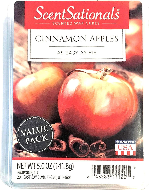 Scentsationals Wax Melt Cubes Christmas Scents of Cinnamon Apples