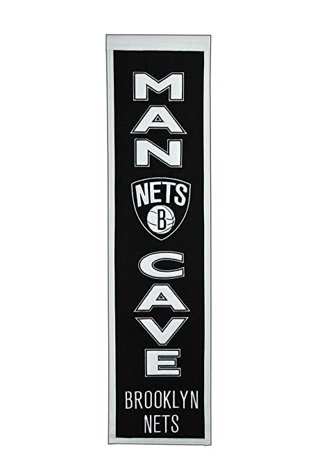 premium selection 9a0b4 97df7 Winning Streak NBA New Jersey Nets Man Cave Banner