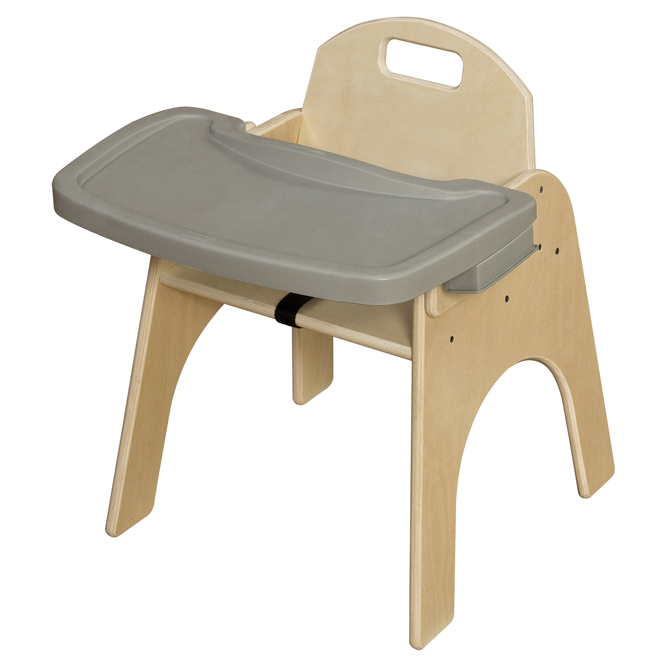 Wood Designs Stackable Woodie Kids Chair with Adjustable Tray, 13'' High Seat