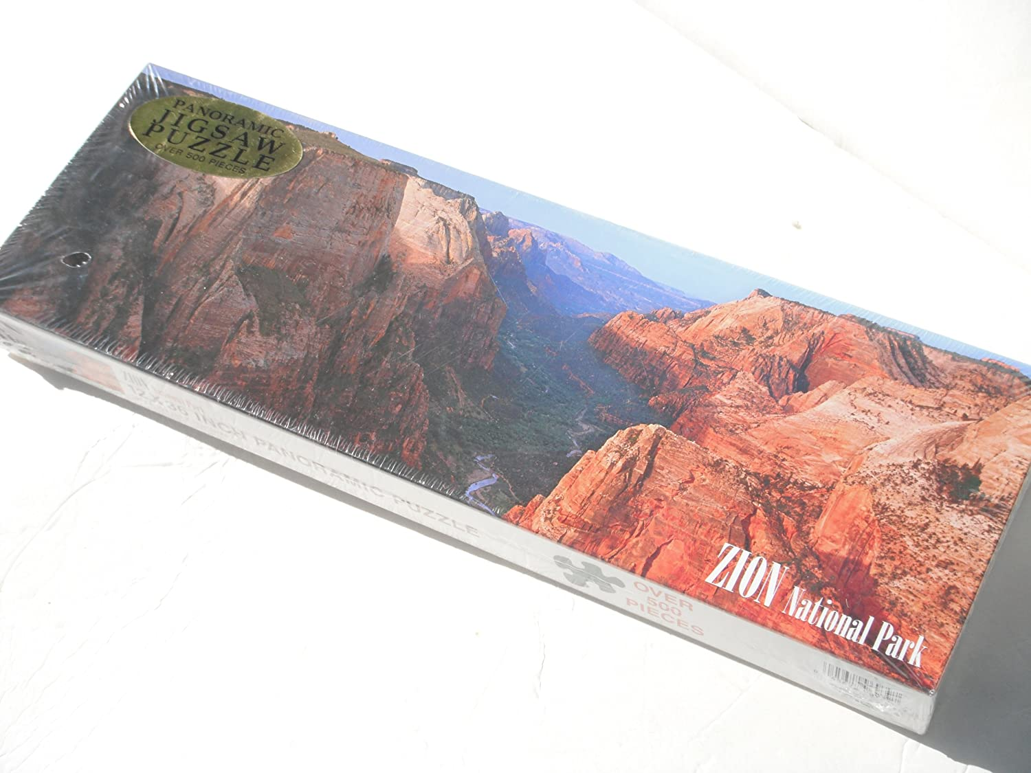 ZION NATIONAL PARK 12 X 36 INCH PANORAMIC PUZZLE (Over 500 Pieces) by Zion National Park