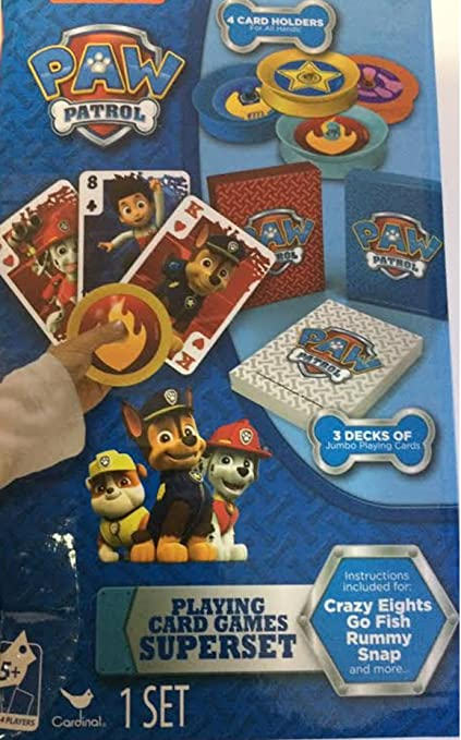 Paw Patrol Card Games Superset Crazy Eights Go Fish Rummy Snap Jumbo Cards