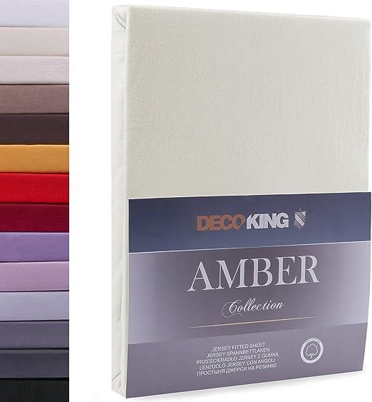 Decoking - Sábana bajera ajustable de 100 % algodón, White Amber ...