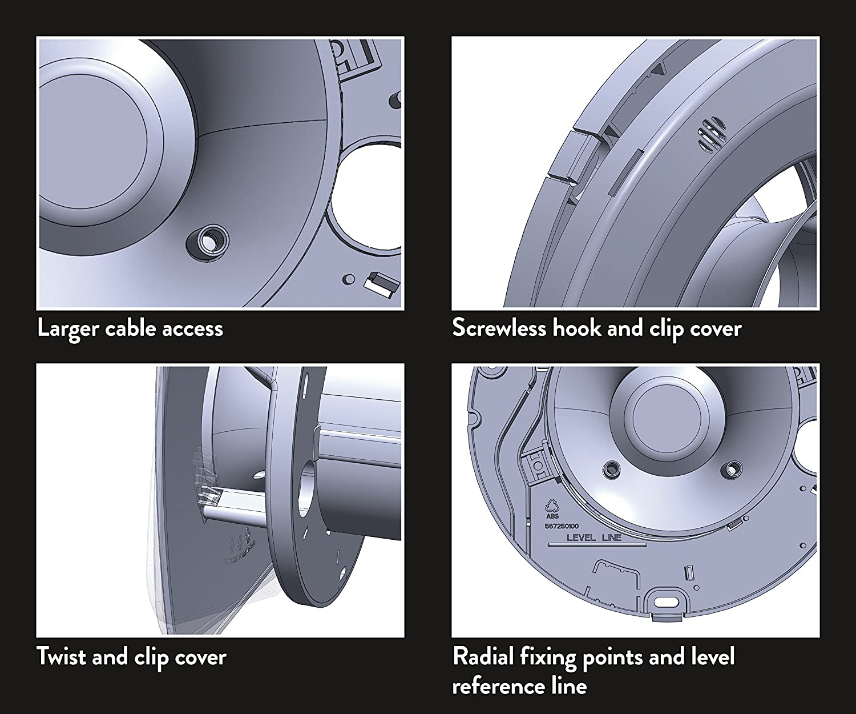 Temporizador de baño Cuadrada Xpelair DX100BTS 10,16 cm Ventilador - luz Blanca fría: Amazon.es: Bricolaje y herramientas