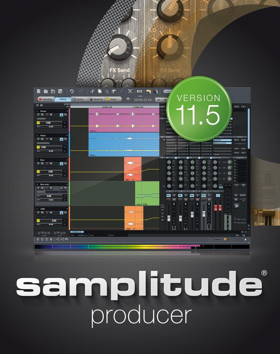 Samplitude 11.5 Producer [Download] MAGIX RESMID011079