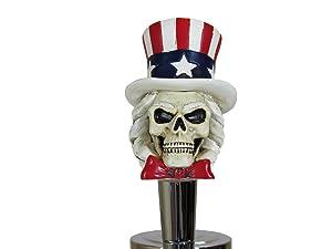Kool Collectibles Uncle Sam Patriotic Sports Bar Beer Tap Handle Kegerator Resin Zombie Breweriana Bar