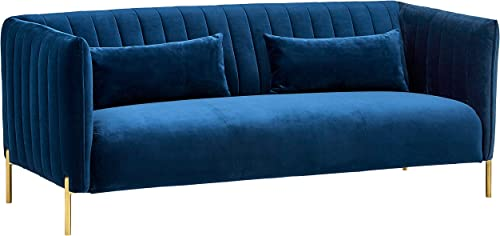 Amazon Brand Rivet Frederick Mid-Century Channel Tufted Velvet Sofa Couch