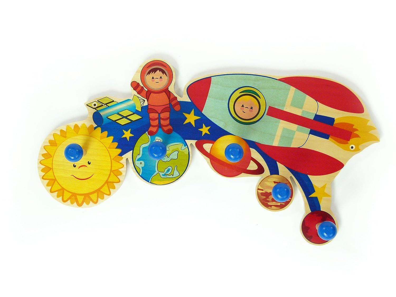 Hess Holzspielzeug Garderobe Weltall