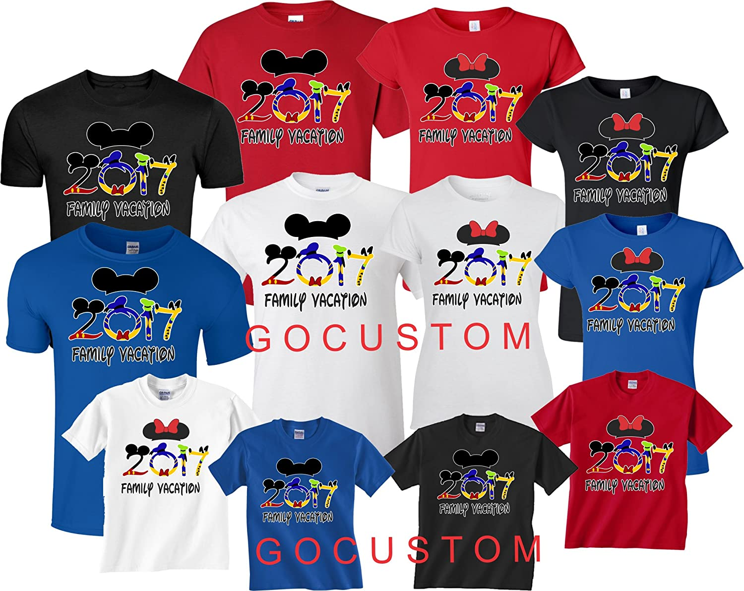 Amazon Family Vacation Disney 2017 Mickey And Minnie Matching Shirts Clothing