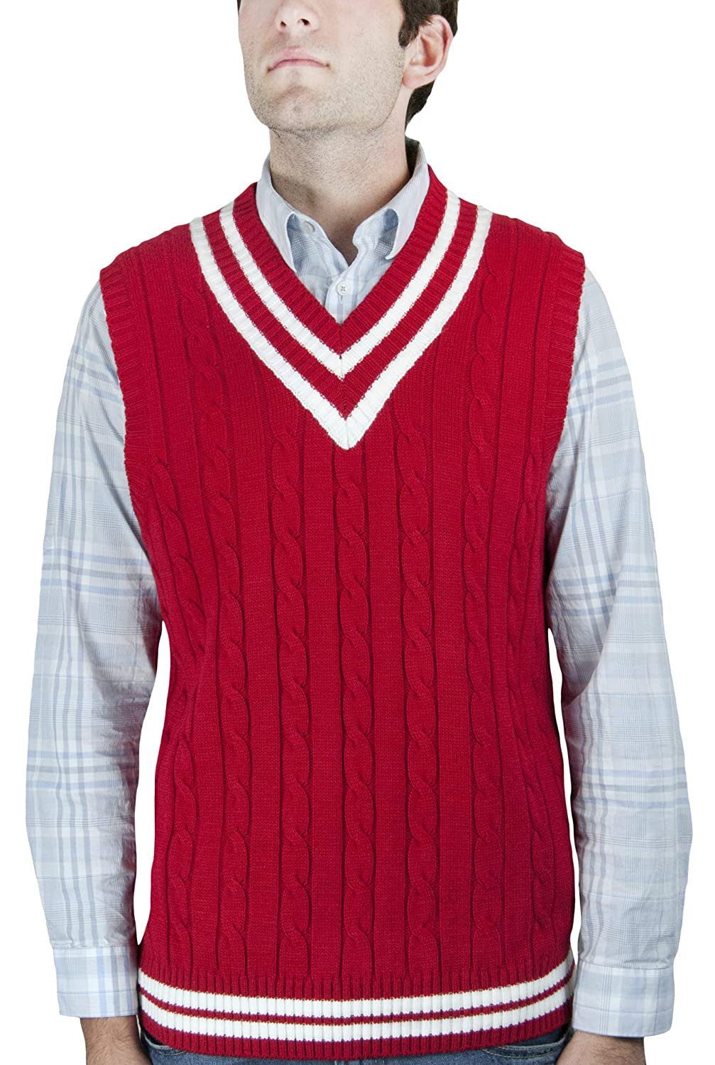 Blue Ocean Cricket Cable Sweater Vest SV-222