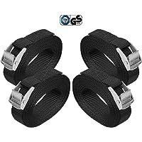 BB Sport Sjorband spanband bevestigingsband met klemgesp - zwart, beschikbaar in verschillende lengtes en hoeveelheden…