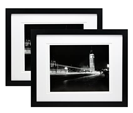 Amazon.com - 11x14 Black Gallery Picture Frame with 8x10 and 8.5x11 ...