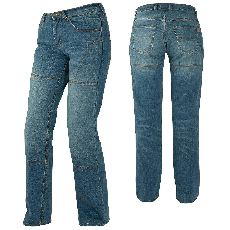 Inserts en Kevlar Bleu taille 34 A-pro Jeans moto femme Protections CE