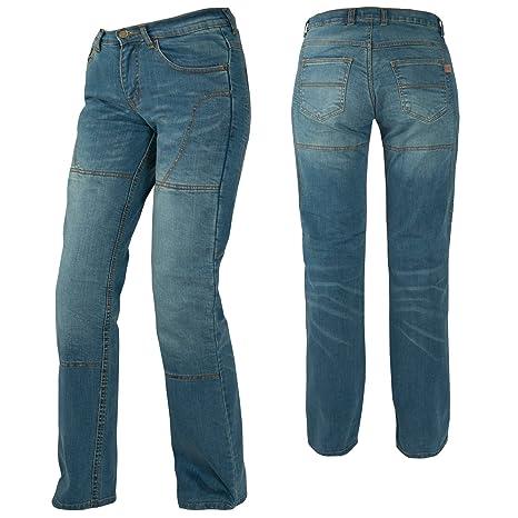 Jeans Donna Pantaloni Lady Moto Protezioni Omologate Rinforzi Kevlar Blu 28 ac0294d78a2