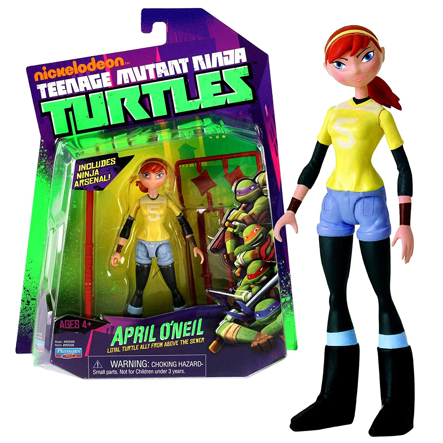 Playmates Year 2012 Nickelodeon Teenage Mutant Ninja Turtles 5 Inch Tall Action Figure - Loyal Turtle Ally from Above the Sewer APRIL ONEIL with Bo ...