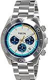 Fossil Men's CH2916 Retro Traveler Stainless Steel Bracelet Watch