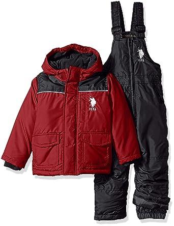 da06555676b0 Amazon.com  U.S. Polo Assn. Boys  Toddler 2 Piece Snowsuit with Ski ...
