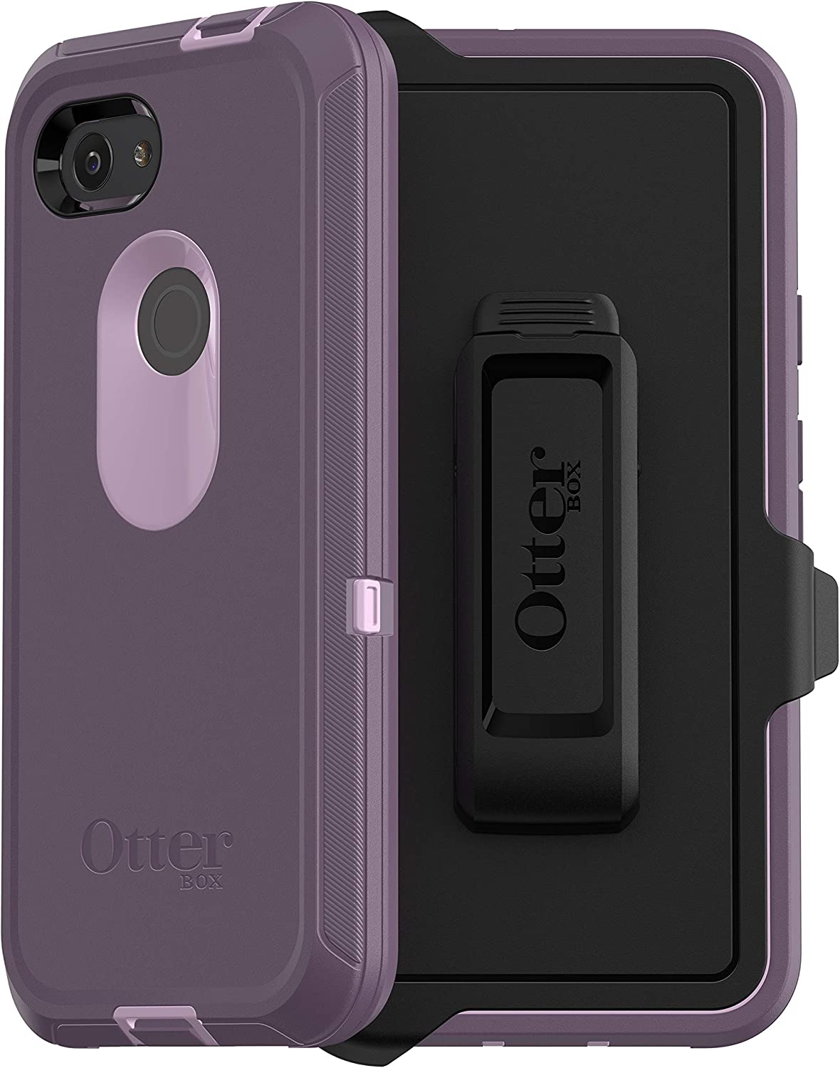 OtterBox Defender Series Case forGoogle Pixel 3a - Retail Packaging - Purple Nebula (Winsome Orchid/Night Purple)