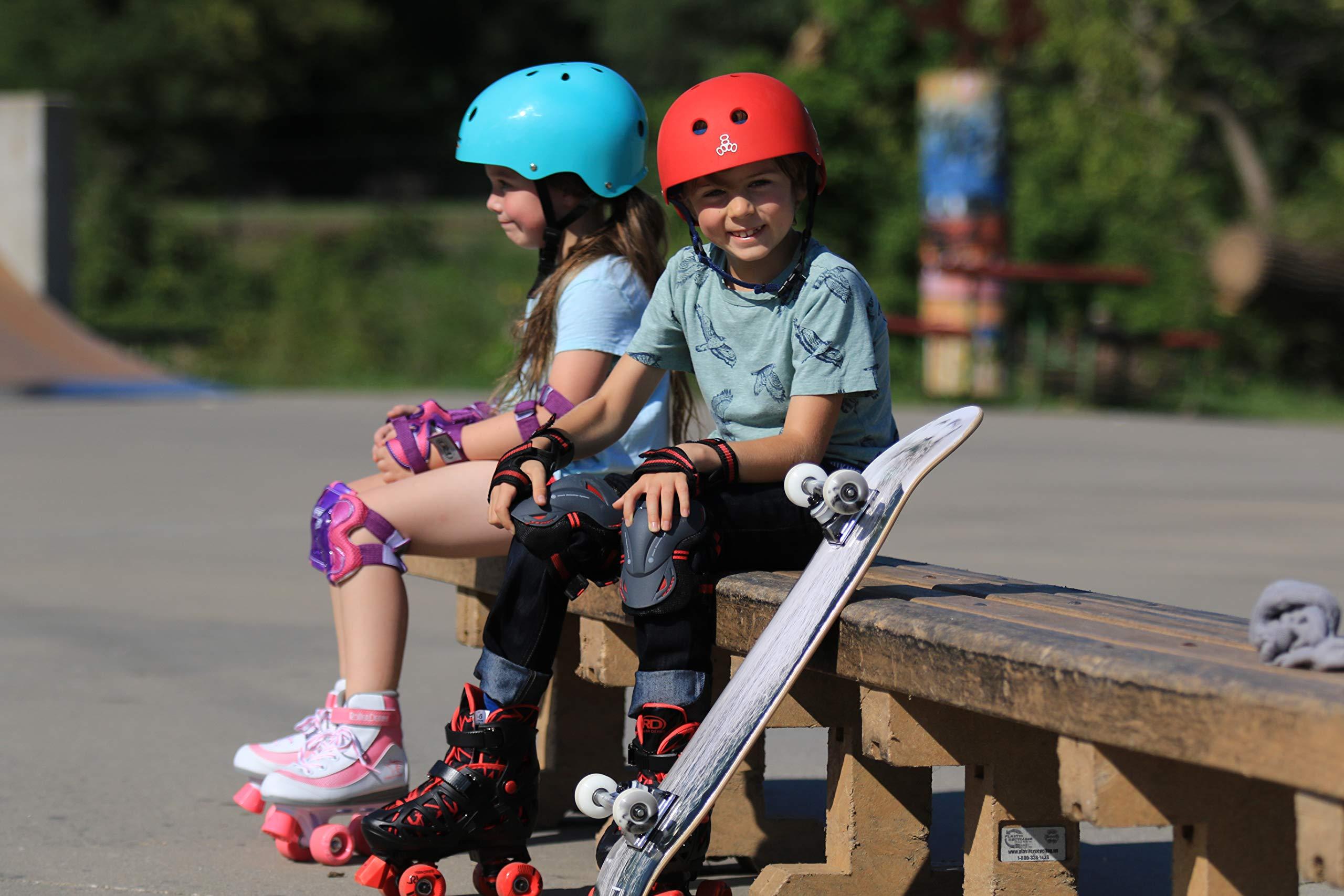 Roller Derby Trac Star Boy's Adjustable Roller Skate, Grey/Black/Red, Large (3-6) by Roller Derby (Image #6)