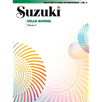 Suzuki Cello School - Volume 9: Cello Part & Piano Accompaniment book cover