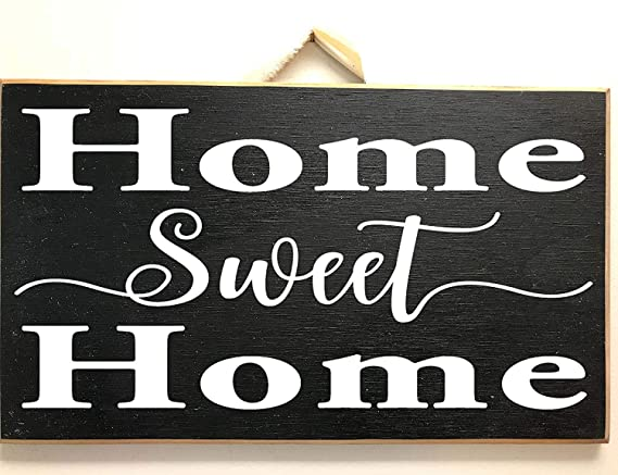 Ral454ick Home Sweet Home Sign Placa de madera para ...