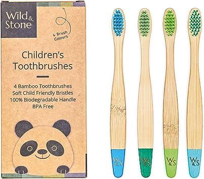 Wild & Stone | Cepillo de dientes de bambú orgánico para niños ...