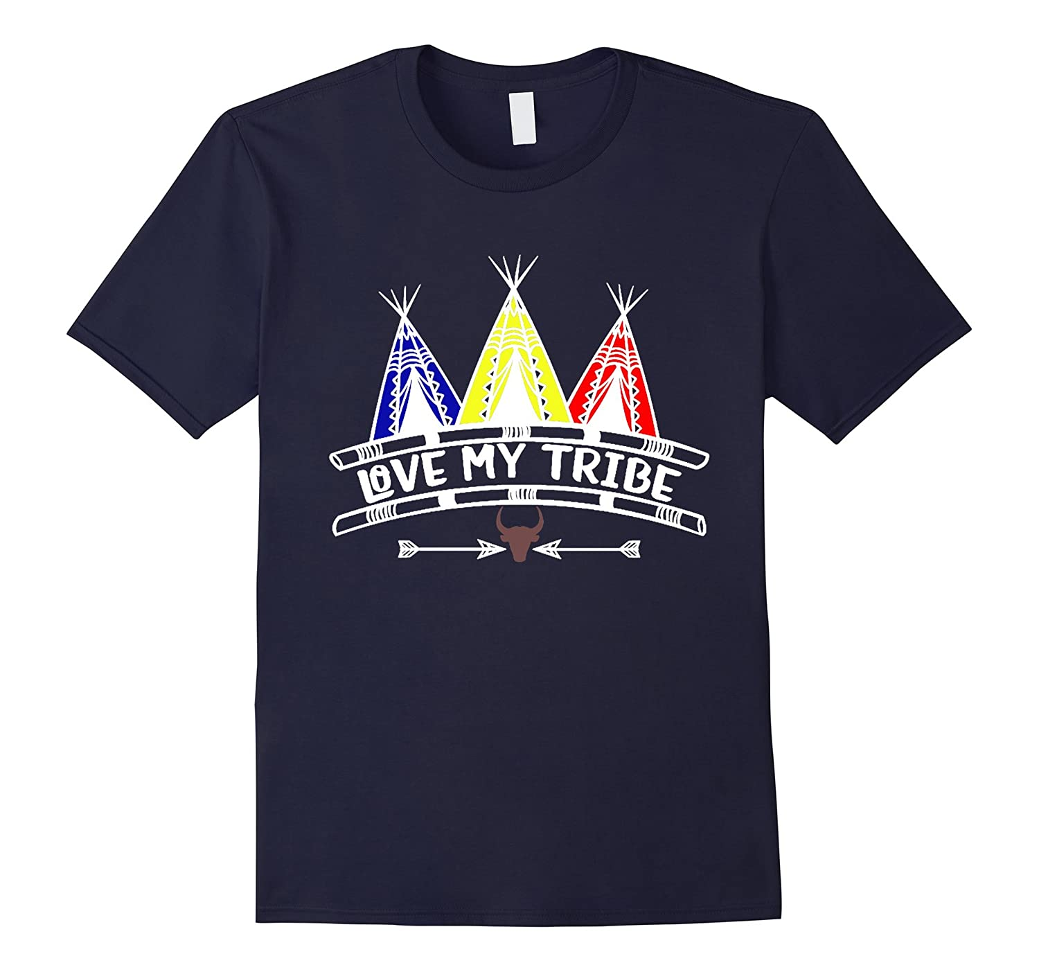 Love My Tribe Shirt Family Teepee Tipi Tribal Boho Mom-Vaci