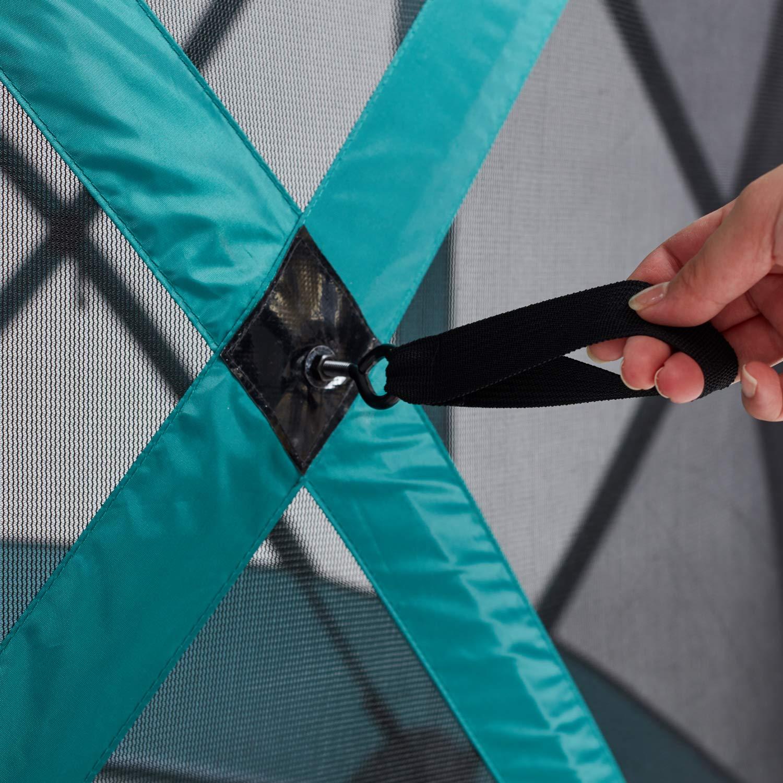MasterCanopy Escape Shelter Side Panels Tear Resistant Durable Side Panels Fire-Retardant Screened Window Beige 1 Pack
