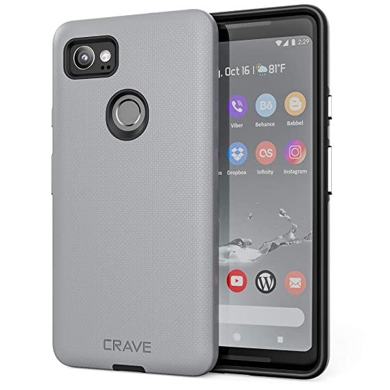 reputable site fdf77 69859 Google Pixel 2 XL Case, Crave Dual Guard Protection Series Case for Google  Pixel 2 XL - Slate
