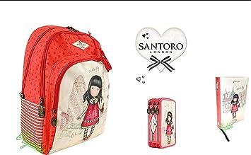 Mochila para Escuela Santoro gorjuss Time To Fly + Estuche de 3 Pisos Completo + Diario Pocket + (V + Regalo marcapáginas: Amazon.es: Equipaje